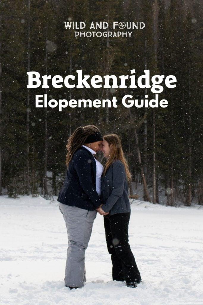 Breckenridge elopement planning guide cover