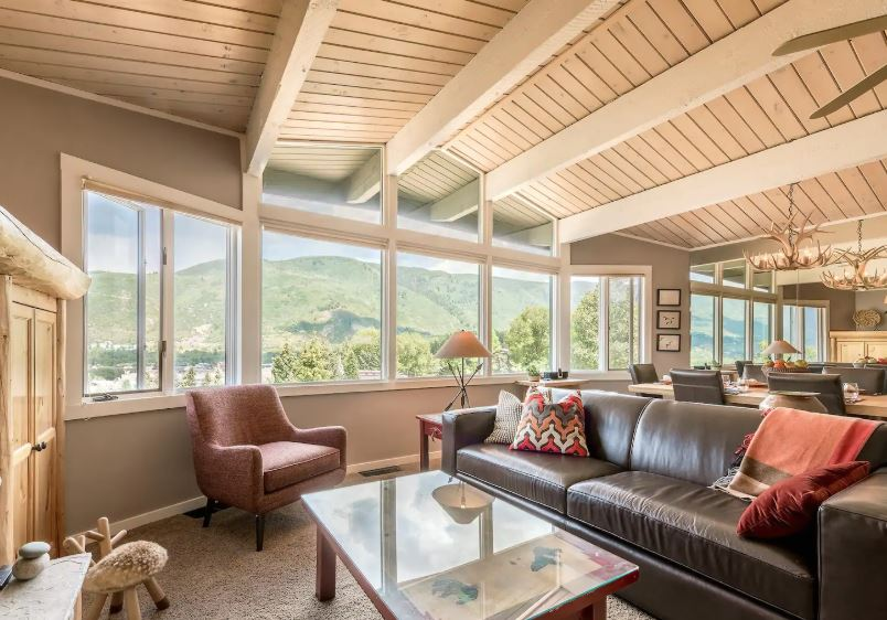 Airbnb with mountain views in Snowmass Village Colorado