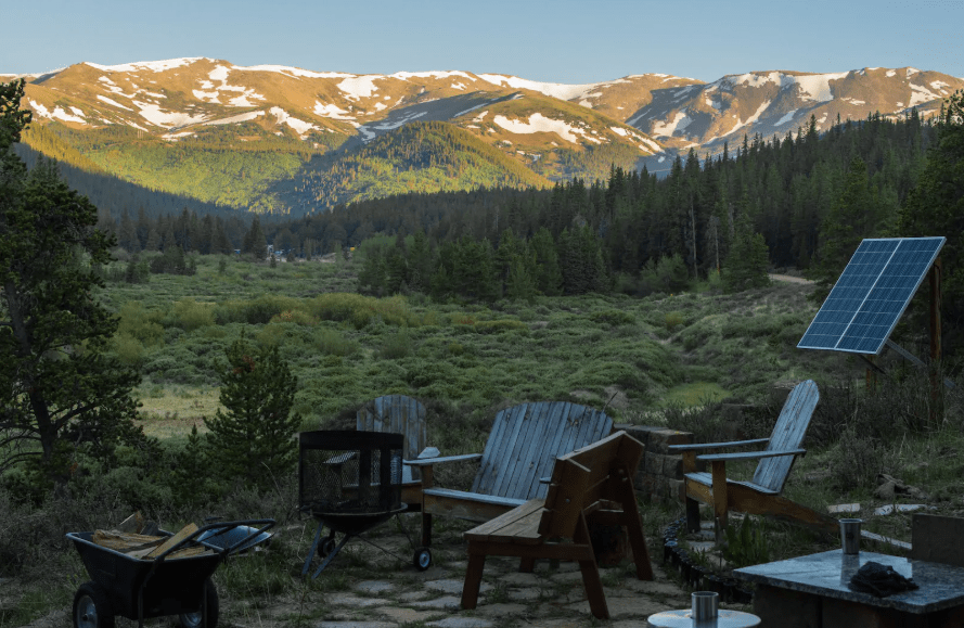 Breckenridge glamping tiny house airbnb in the mountains of Colorado