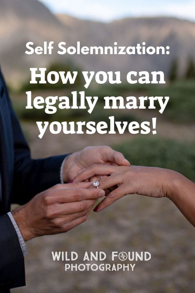 Self Solemnization How you can legally marry yourselves cover