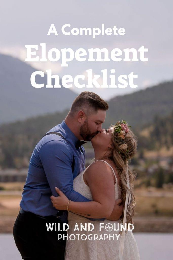 Elopement Checklist cover photos