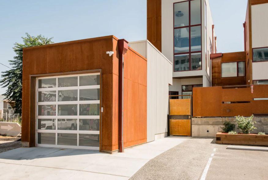 Exterior of modern Denver Airbnb