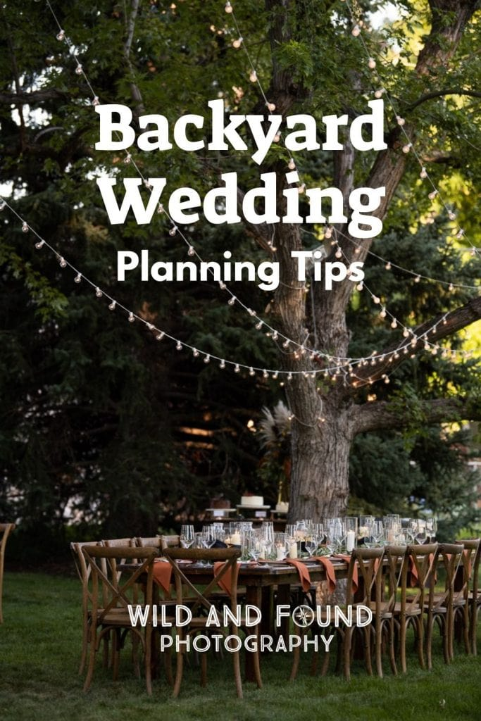 Colorado Backyard wedding planning tips cover photo