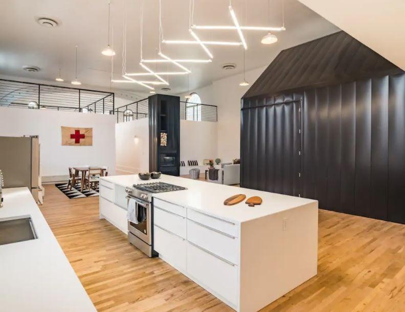 Kitchen of Denver Airbnb loft