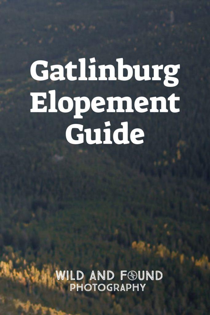 Gatlinburg elopement guide cover photo