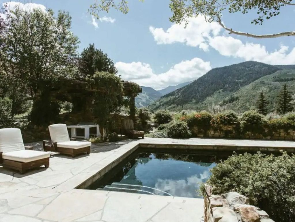 Snowmass Village Colorado Airbnb with pool and mountain views for wedding