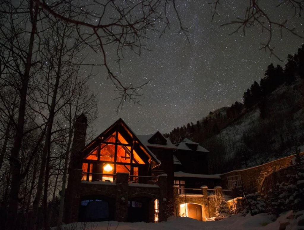 Large Telluride home with mountains and views of the stars