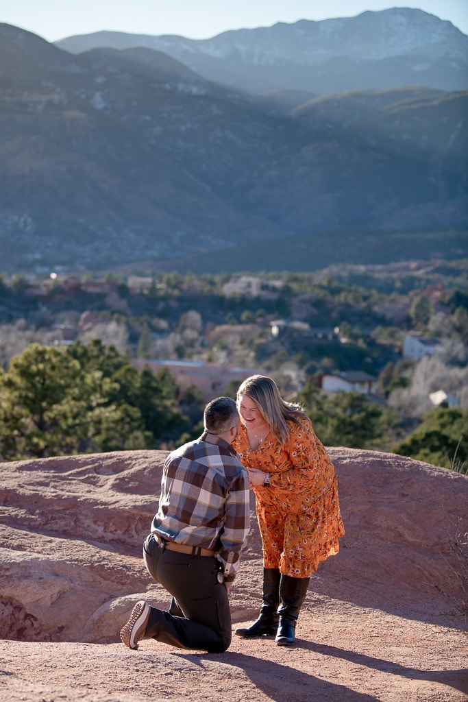 Proposal at Garden of the Gods in Colorado