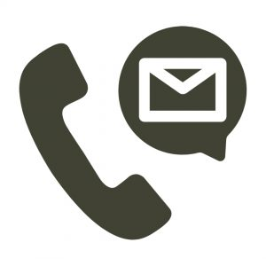 Icon of telephone and email message