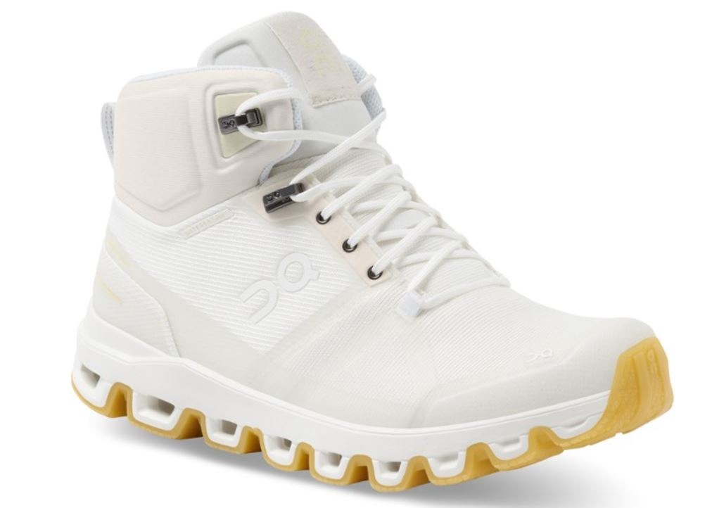 All white hiking boot with white laces